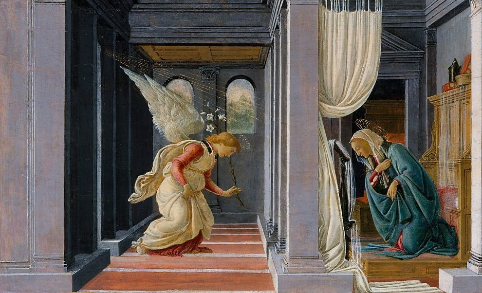 The Annunciation By Botticelli